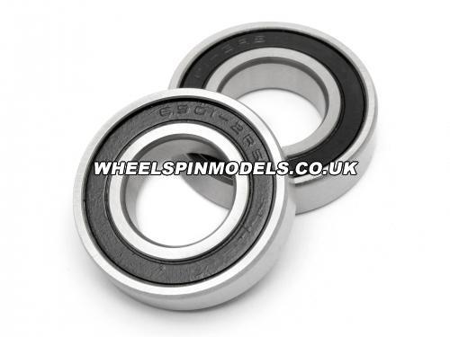 Ball Bearing 12X24X6Mm Rubber Shielded (2Pcs)