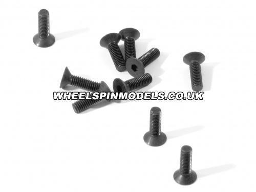 Countersunk Flat Head Screw M3x10mm (6pcs) 2mm Hex Socket