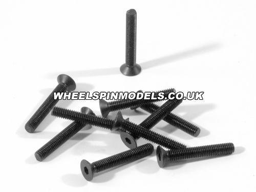 Countersunk Flat Head Screw M3x20mm (6pcs) 2mm Hex Socket