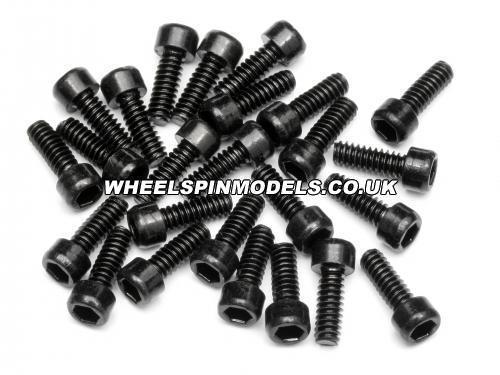 Wheel Screw Cap Head (25pcs) 4-40 Thread - 2.5mm Hex Socket)