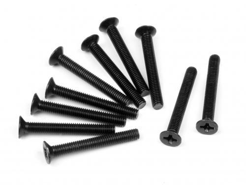 Flathead Screw M3X24mm (10Pcs)