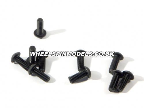 Button Head Screw M3x8mm (2mm Hex Socket - 6Pcs)