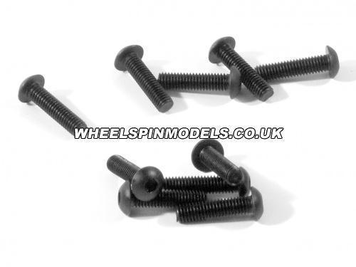 Button Head Screw M3x12mm (2mm Hex Socket/6Pcs)