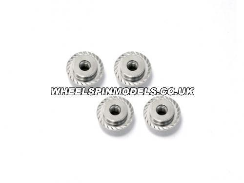 Flanged Lock Nut M5x8mm Silver For 17mm Hex Savage Wheels