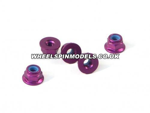Purple Alloy Wheel Nuts M4 (4Pcs)