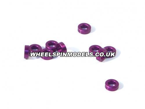Aluminium Washer 3x6x2.0mm (Purple/10Pcs)