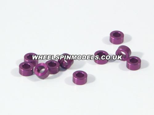 Aluminium Washer 3x6x3.0mm (Purple/10Pcs)