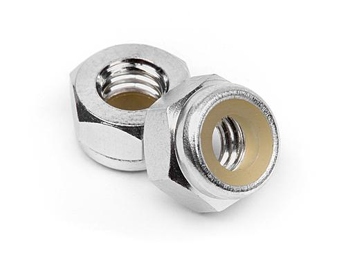 Aluminum Lock Nut M4 (Silver/10Pcs)