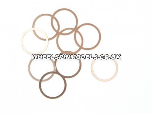 Washer 10x12x0.1mm Copper 10Pcs