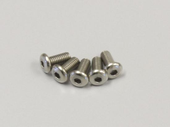 Kyosho Hex Button Screws 2.6X6mm (5) Titanium