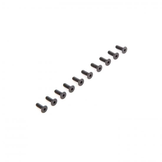 Flat Head Screws M2.5 x 8mm (10)