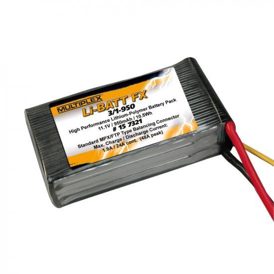 Multiplex Li-Batt Fx 3/1-950 (M6) 157321