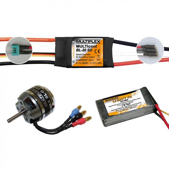 Multiplex Mpx Power Set/Lipo Batt.Panda Sport 333662