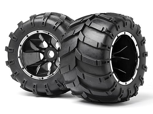 Maverick Blackout MT Tyres Pre Mounted on Wheels - 1 Pair