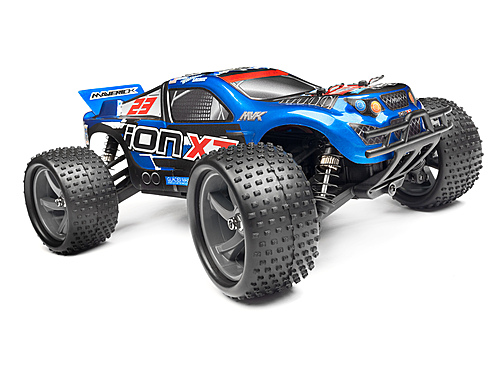 Maverick Truggy Painted Body Blue With Decals (Ion Xt)