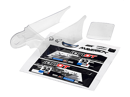 Maverick Clear Desert Truck Body With Decals (Ion Dt)