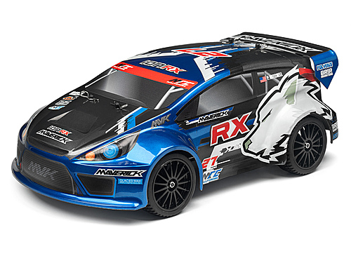 Maverick Clear Rally Body With Decals (Ion Rx)