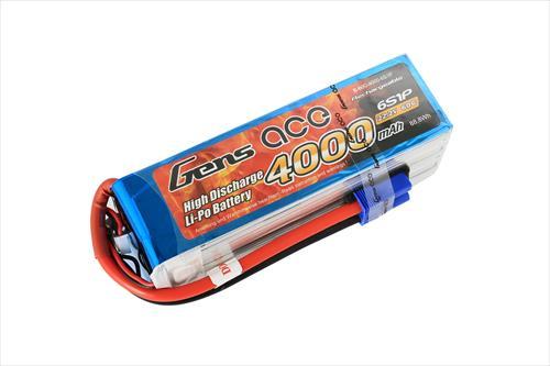 Gens Ace Soft Case 6S 22.2v 60C LiPo - 4000mAh - EC5