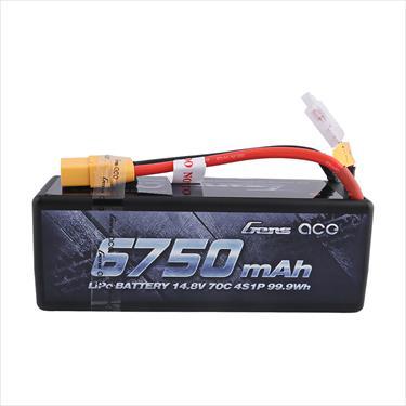 Gens Ace Hard Case 4S 14.8v LiPo 6750mAh 70C - XT90