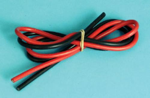 Silicone Wire - Black & Red x 500mm