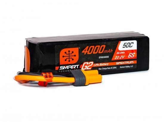 Spektrum 4000Mah 6S 22.2V Smart G2 50C IC5