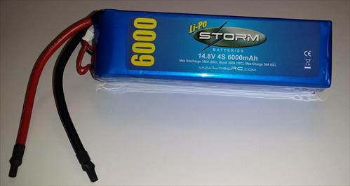 Storm Li-Po 4S 14.8V 25C 6000Mah