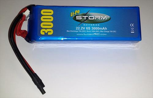 Storm Li-Po 6S 22.2V 25C 3000Mah