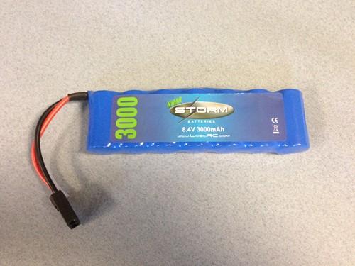 NiMH 8.4V 3000mAh Flat TRX Connector