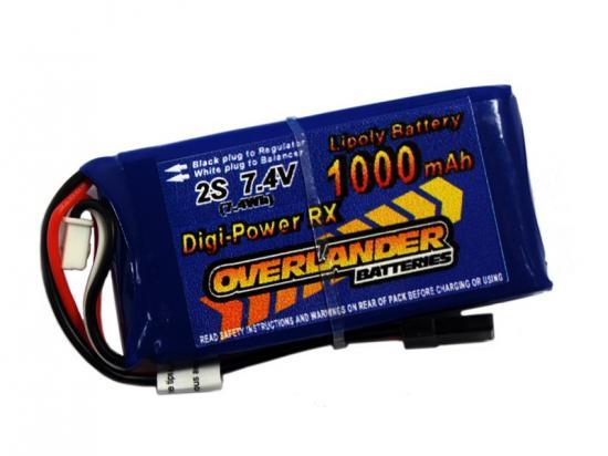 1000mAh 2S 7.4v LiPo Battery Receiver Pack - Overlander Digi-Power