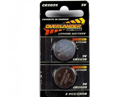 Overlander Lithium CR2025 Coin Cell (Button Cell) 3V