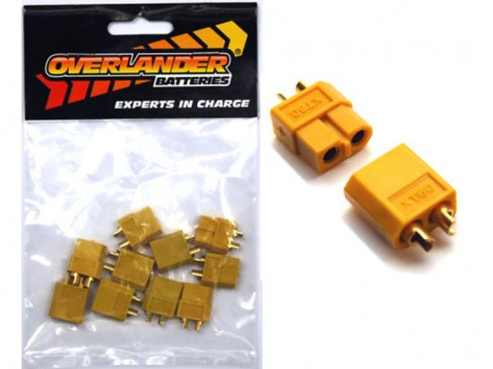 Overlander XT60 Precision profile connector 60A - 80A - 5 pairs