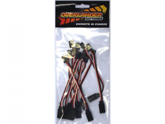 Overlander 12 pcs Futaba Type 150mm Heavy Duty Extension Wire