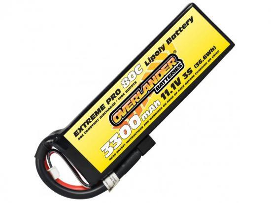 3300mAh 3S 11.1v 80C LiPo Battery - Overlander Extreme Pro - Deans