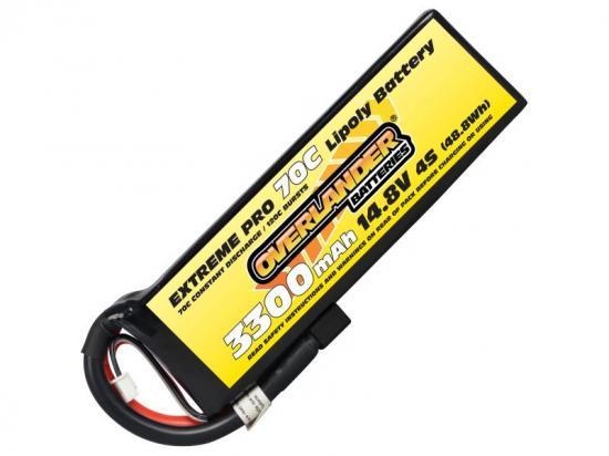3200mAh 4S 14.8v 60C LiPo Battery - Overlander Extreme Pro - Deans