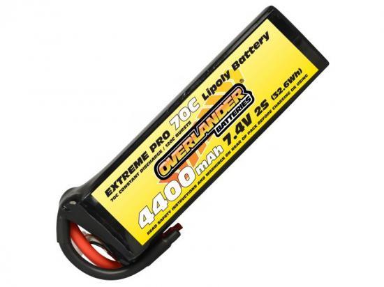 4400mAh 2S 7.4v 70C LiPo Battery - Overlander Extreme Pro