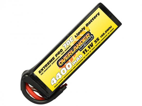 4400mAh 3S 11.1v 70C LiPo Battery - Overlander Extreme Pro