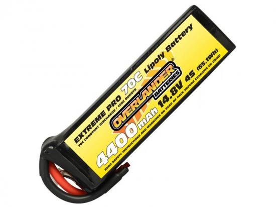 4400mAh 4S 14.8v 70C LiPo Battery - Overlander Extreme Pro