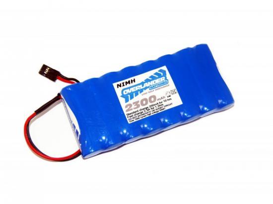 Overlander Nimh Battery Pack LSD AA 2300mah 9.6v Futaba TX Flat Premium Sport