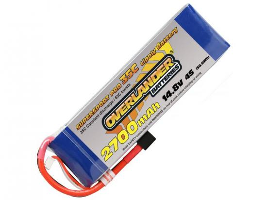 2700mAh 4S 14.8v 35C LiPo Battery - Overlander Supersport Pro