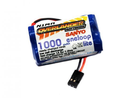 Overlander Sanyo Eneloop Lite 1000 mAh 4.8v AA Square RX Receiver Battery Pack