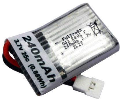 Hubsan X4 Aftermarket 240mAh 1S 25C LiPo Battery
