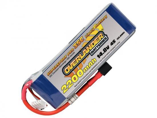 2200mAh 4S 14.8v 35C LiPo Battery - Overlander Supersport