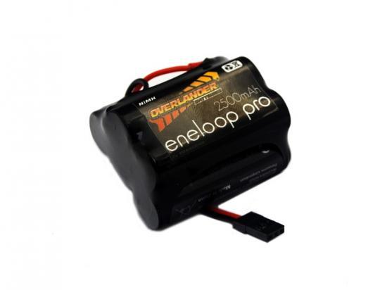 Overlander Eneloop Pro 2500mAh AA 6v Hump Receiver Battery Pack