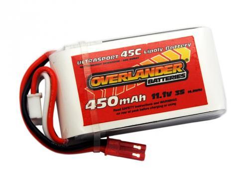 Overlander Ultrasport LiPo - 450mAh - 3S 11.1v - 45C (Fits Blade 180 CFX)