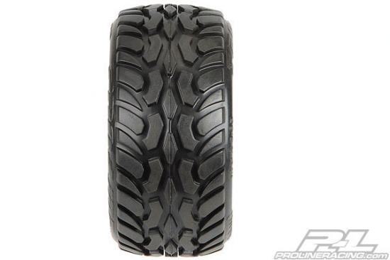 ProLine Dirt Hawg Tyres Mounted on Desperado Wheels - Fits Traxxas 1/16 Mini E-REVO, Etc - 1 Pair