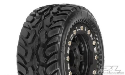 ProLine Dirt Hawg Tyres Mounted On Titus Bead-Loc Wheels - Fit Mini E-REVO, Etc
