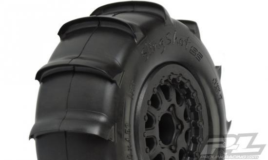 ProLine Slingshot SC XTR Mounted on Renegade Black Wheels