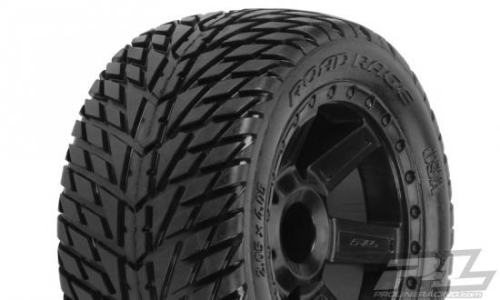 ProLine Road Rage 2.8 Truck Tyres - Mounted On Black Desperado Wheels (Jato/Stampede)