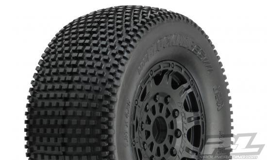 ProLine Blockade SC 2.2 /3.0 Tyres - Mounted On Raid Black 17mm Hex SC Wheels