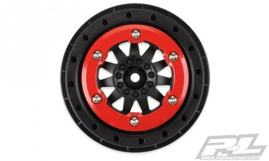 ProLine F-11 2.2/3.0 Short Course Beadlock Wheels - Red/Black